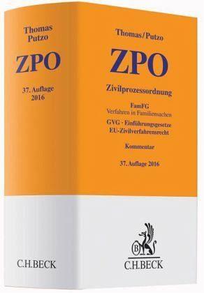 Buch mit Leinen-Einband »Zivilprozessordnung (ZPO), Kommentar«