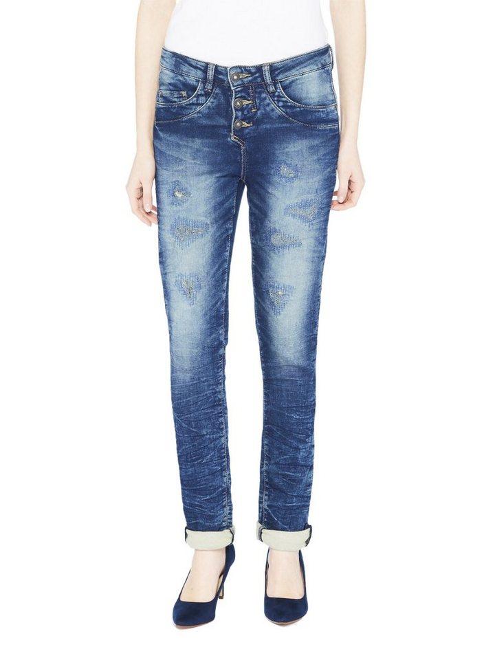COLORADO DENIM Jeans »C975 BOYFRIEND Damen Jeans« in dark blue destro