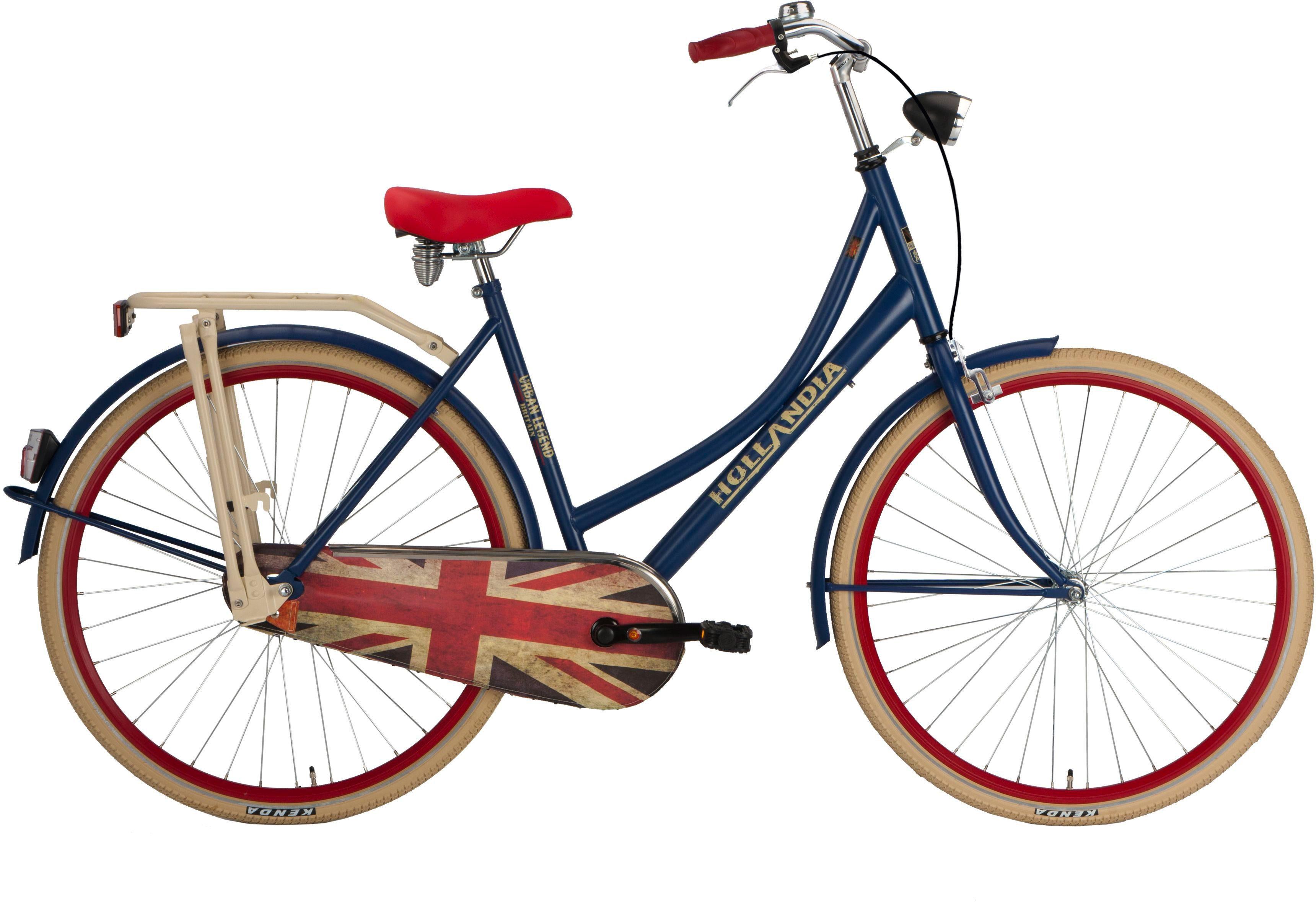 Hollandia Damen Citybike, 28 Zoll, Singlespeed, Rücktritt, »Hollandia goes Britain«