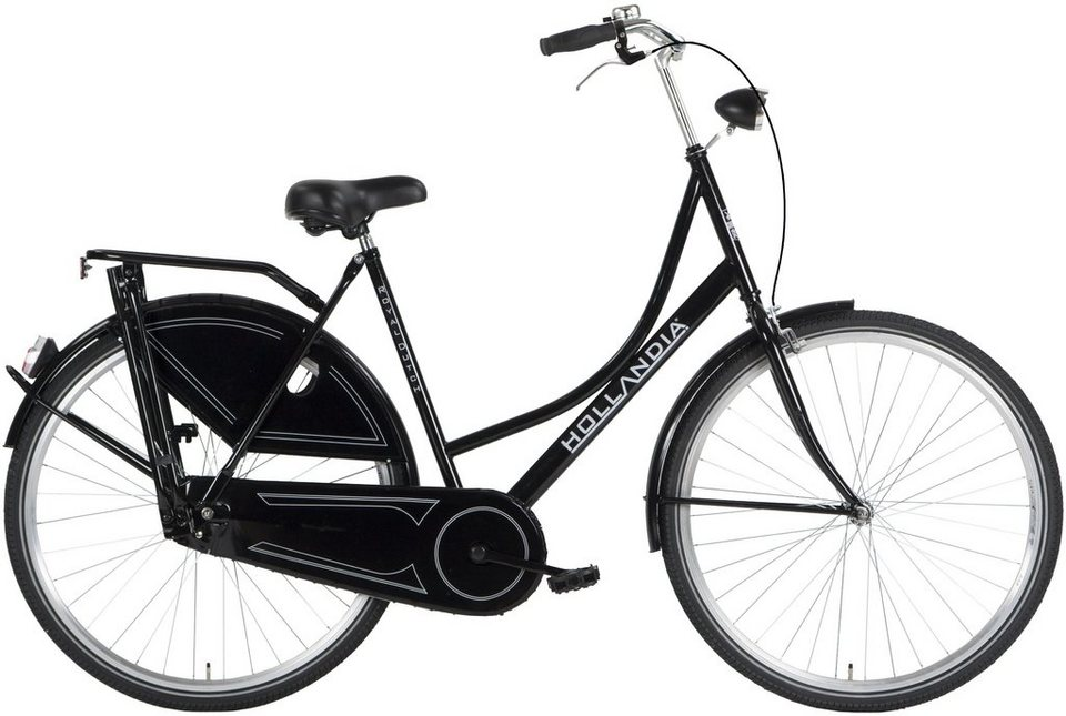 Hollandia Damen Citybike, 28 Zoll, Singlespeed, Rücktritt, »Grandma« in schwarz