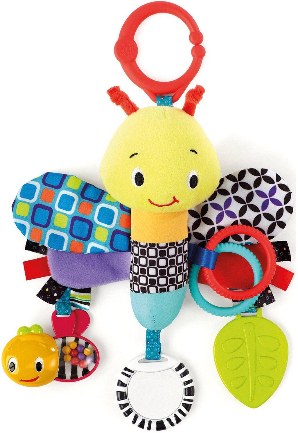 Kids II Plüschlibelle mit integriertem Beißring, »BS Start Senses Sensory Plush Pals«