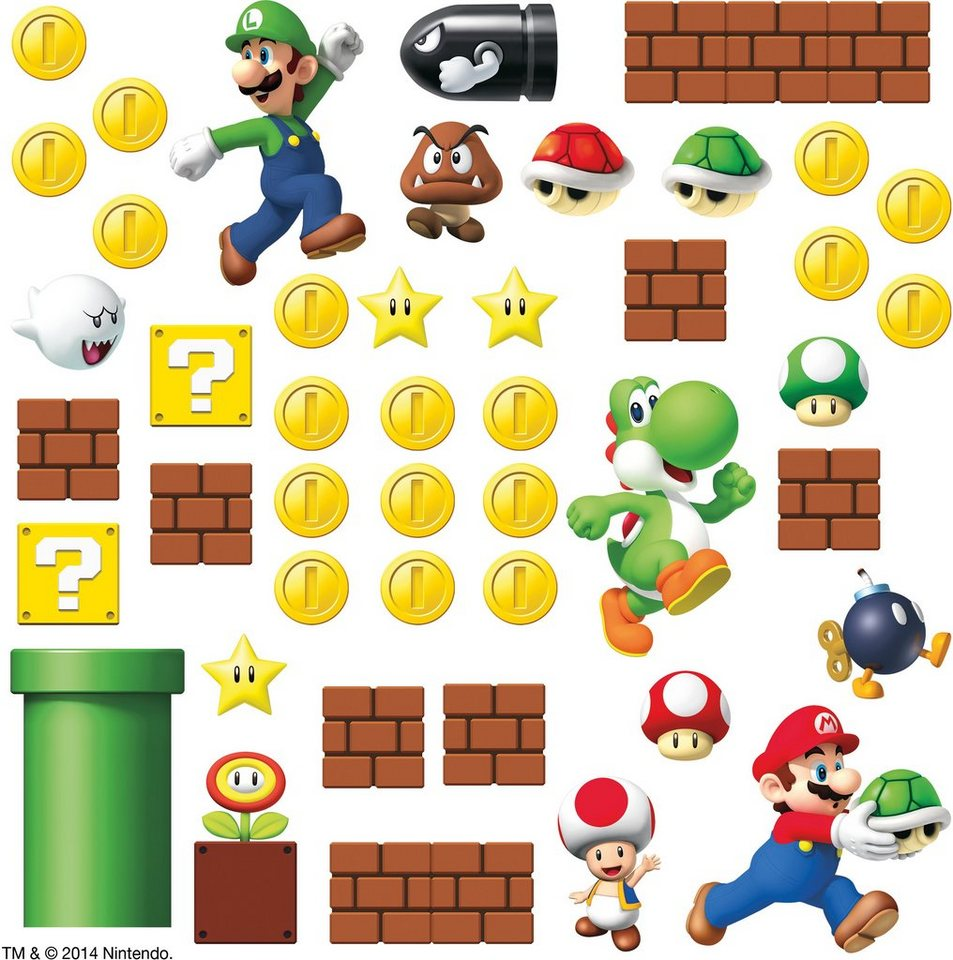 RoomMates Wandtattoo, »Super Mario Szene«