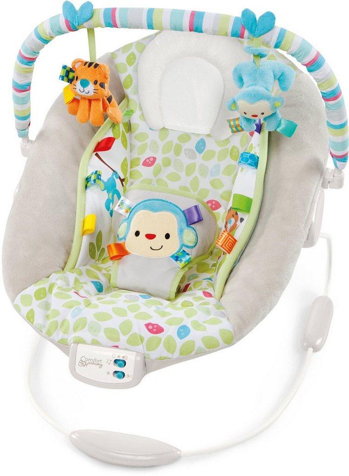 Kids II Babyschaukel, »Cradling Bouncer in Merry Monkeys« in weiß