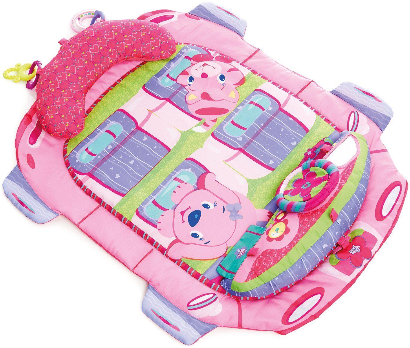 Kids II Krabbeldecke, »Tummy Cruiser Prop+Play Mat pink«