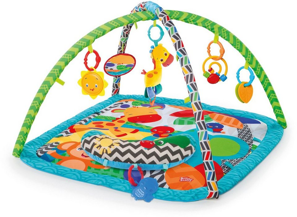 Kids II Krabbeldecke mit Spielbogen, »Zippy Zoo Activity Gym« in blau