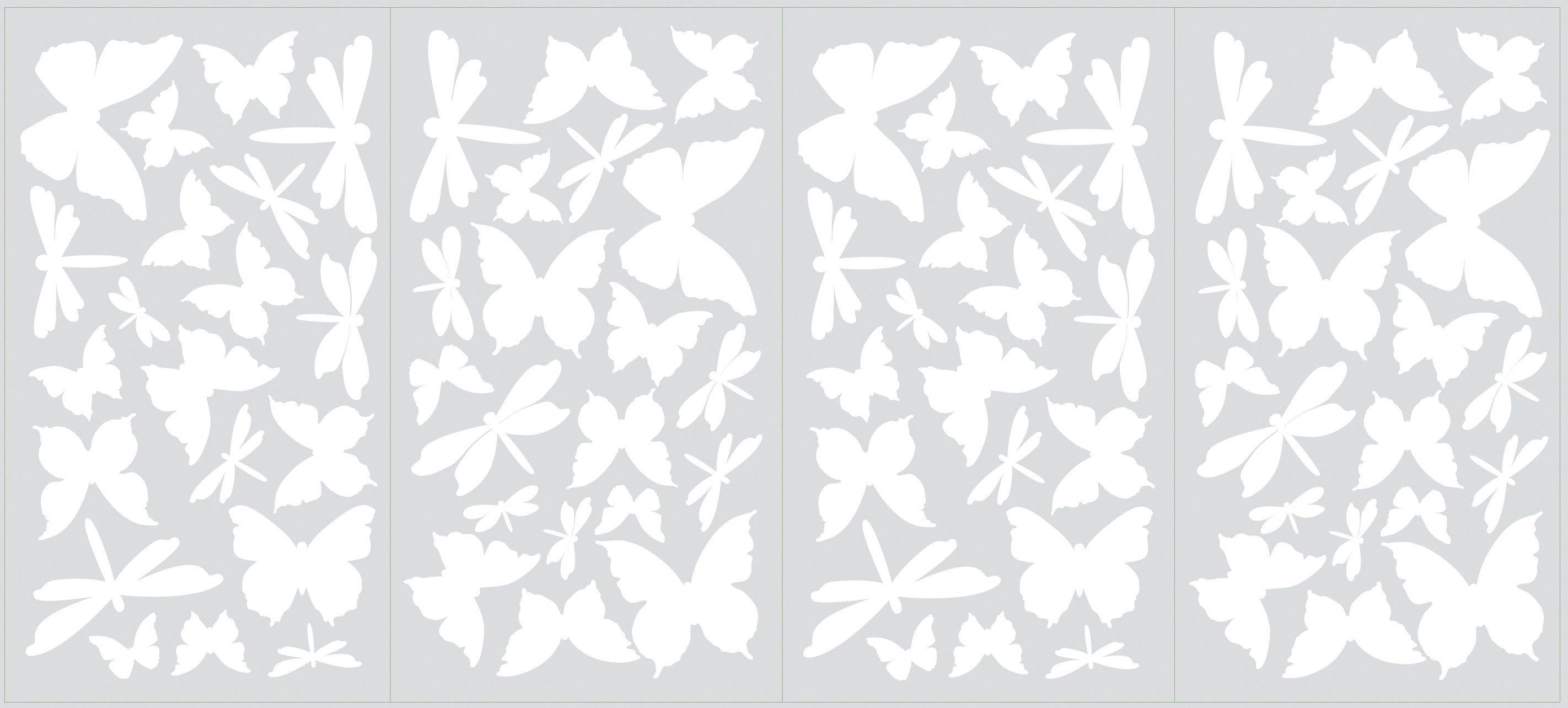 RoomMates Wandtattoo, »Leuchtende Schmetterlinge«