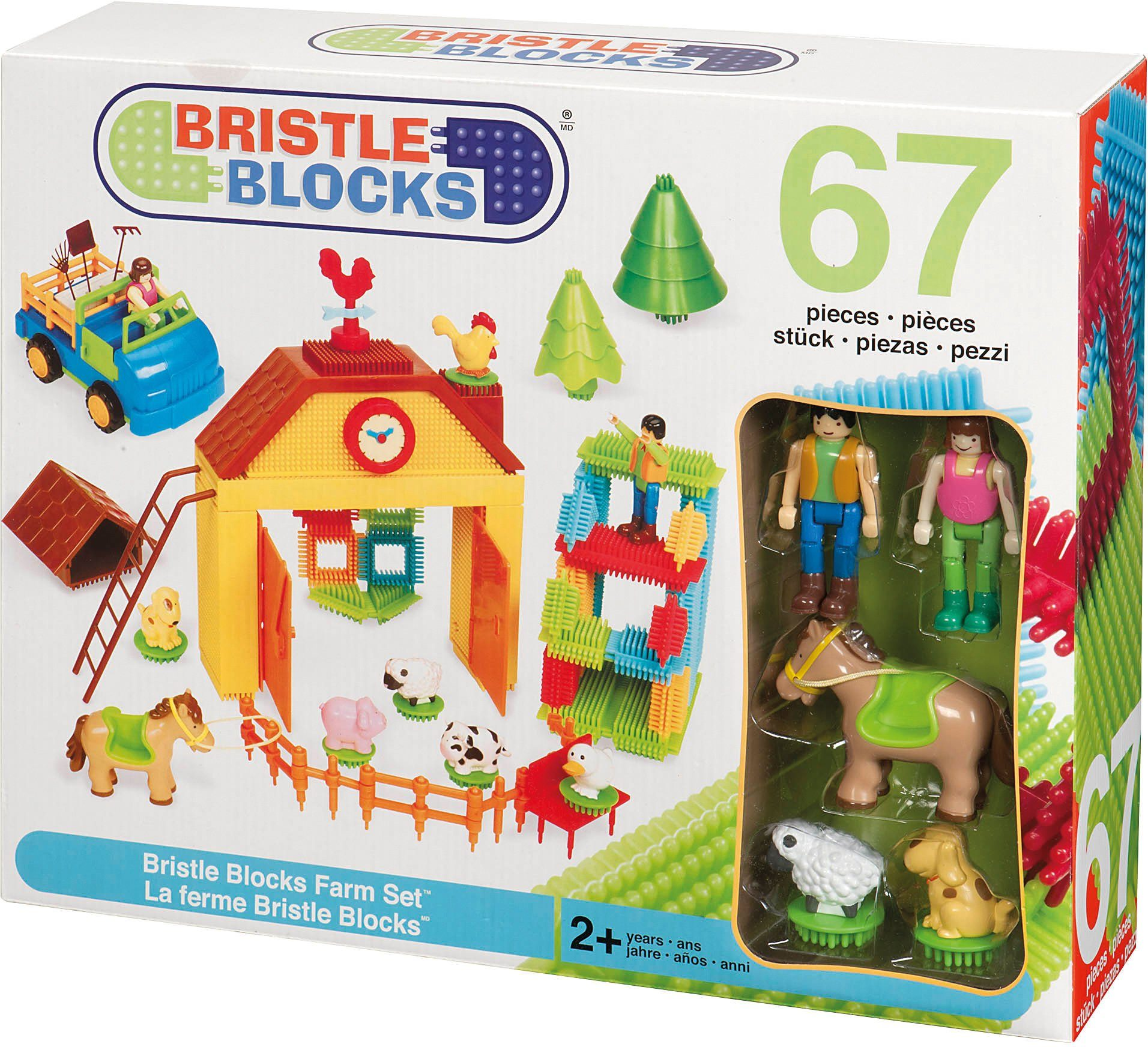 Bristle Blocks Bausteineset, »67 Teile Farm Set«