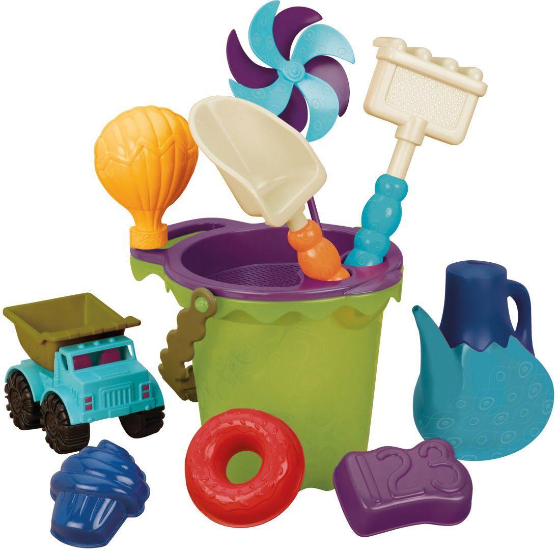 B.toys Sandspielzeug Set , »B. Ready Beach Bag Olive«