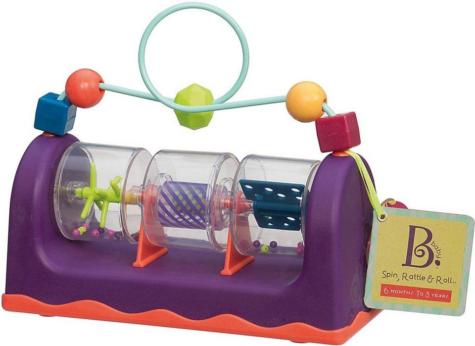 B.toys Motorikschleife mit Geräuschen, »Spin + Roll« in lila