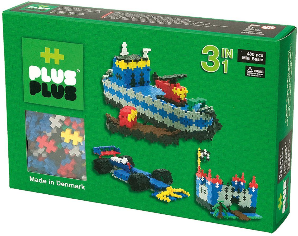 Plus - Plus Bausteine, »Mini Basic 480 3in1 Set«