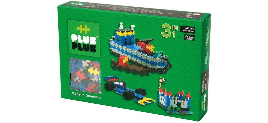 Plus - Plus Bausteine, »Mini Basic 480 3in1 Set«