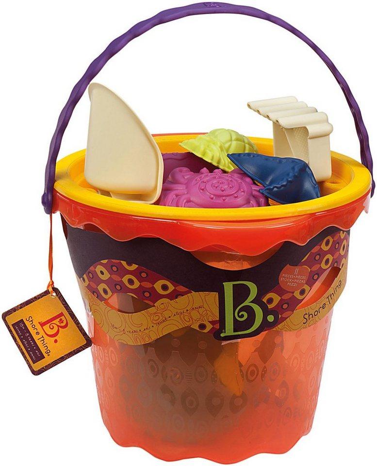 B.toys Sandspielzeug mit Aufbewahrungseimer, »Sand Large Bucket Set Papaya« in orange