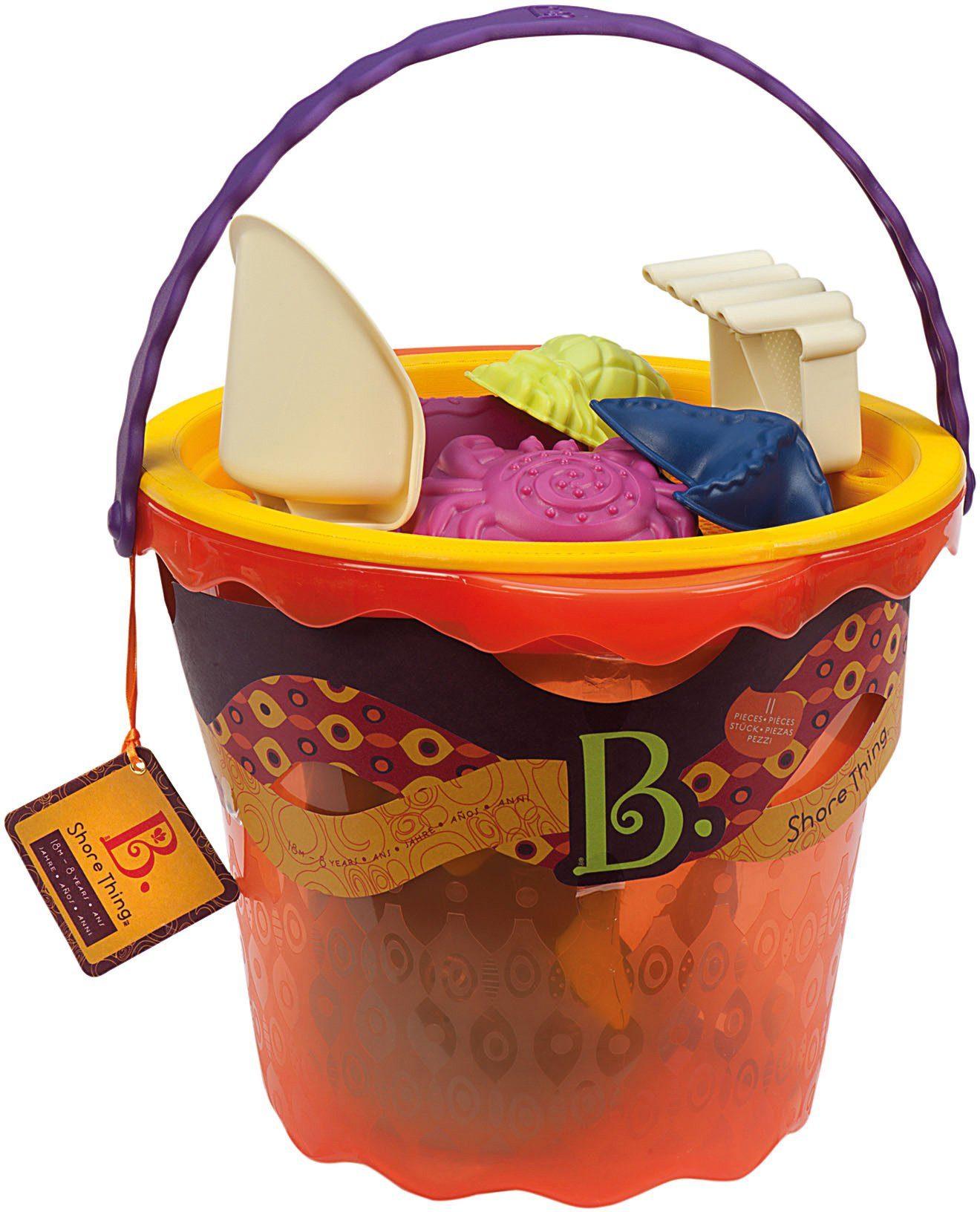 B.toys Sandspielzeug mit Aufbewahrungseimer, »Sand Large Bucket Set Papaya«