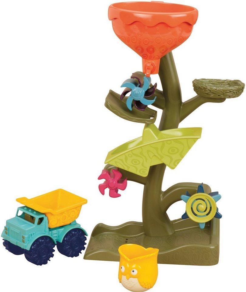 B.toys Badewannenspielzeug, »Owl About Waterfalls« in grün