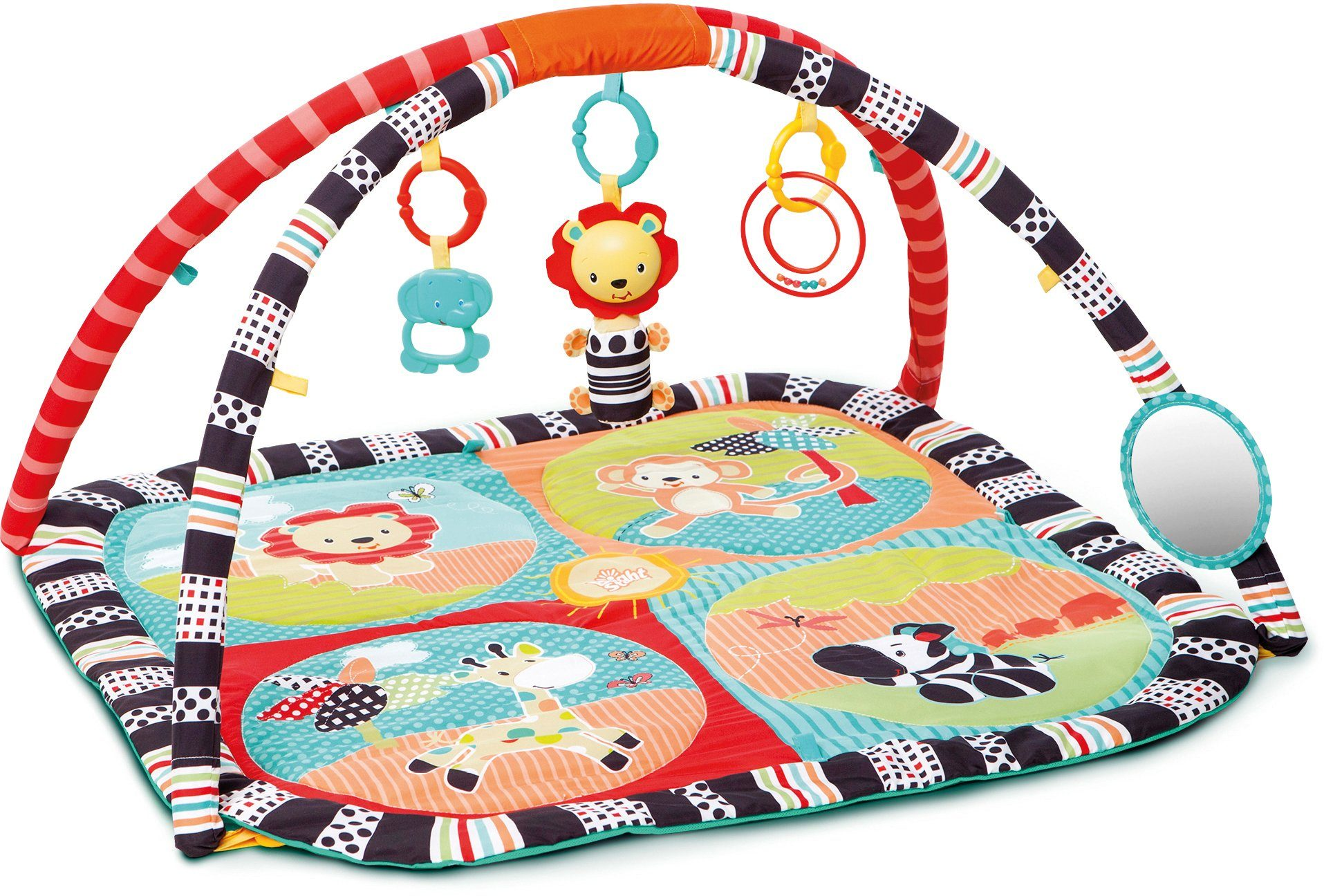 Kids II Krabbeldecke mit Spielbogen, »Roaming Safari Activity Gym«