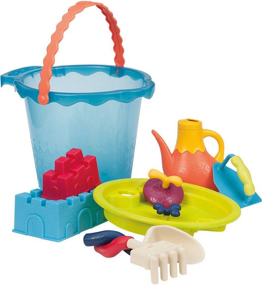 B.toys Sandspielzeug mit Gießkanne, »Sandspielzeug Large Bucket Set Sea« in blau