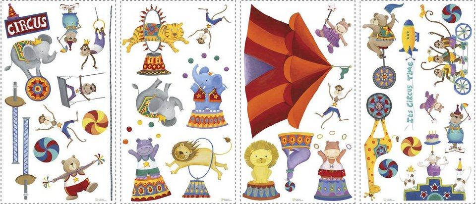 Roommates wandtattoo zirkus online kaufen otto for Zirkus dekoration