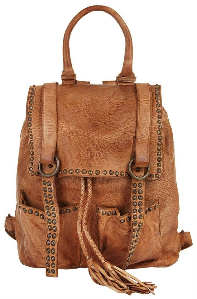 Forty degrees Leder Damen Rucksack in cognac