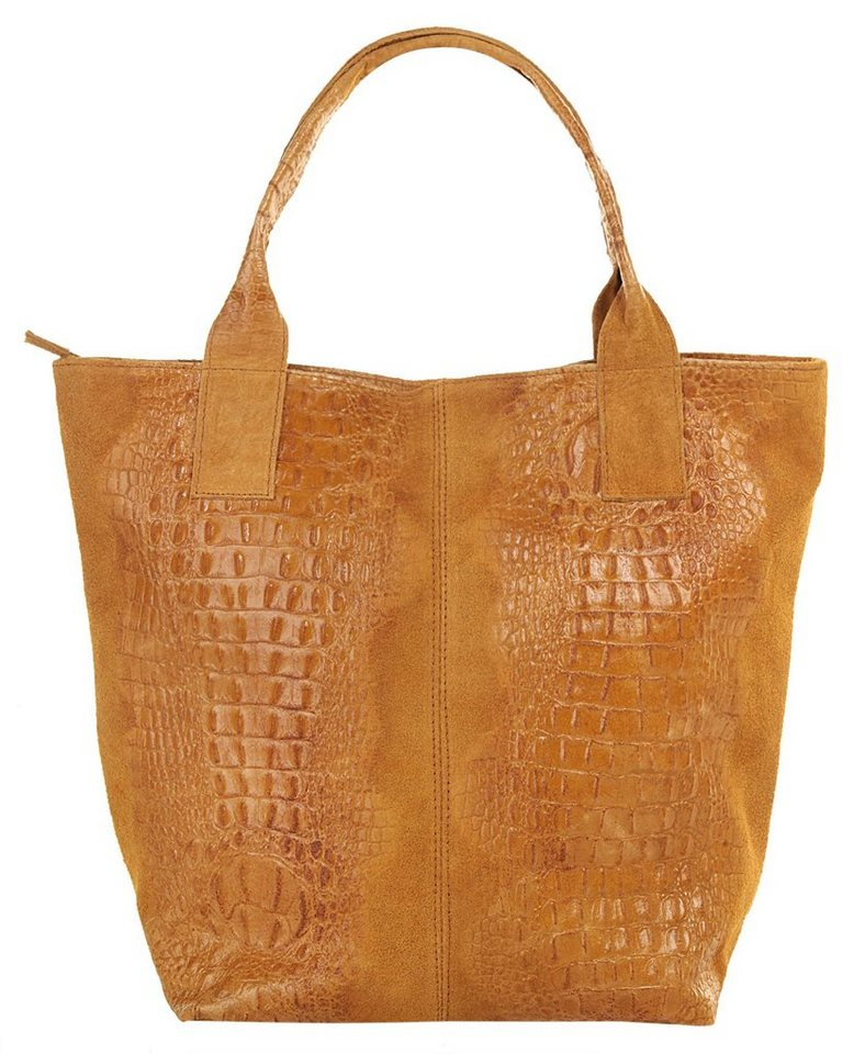 Samantha Look Leder Damen Shopper in cognac