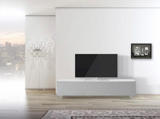 SPECTRAL TV-Board »just-racks JRL1651S«, mit stoffbespannter Klappe, Breite 165 cm