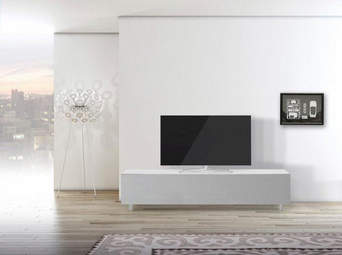 SPECTRAL TV-Lowboard »just-racks JRL1651S« mit stoffbespannter Klappe, Breite 165 cm