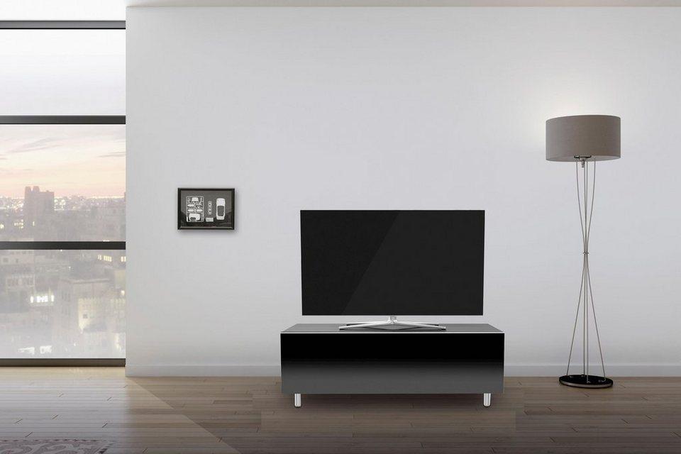 just-racks TV-Lowboard »JRL1100S-SL« mit Schublade, Breite 110 cm in Schwarzglas