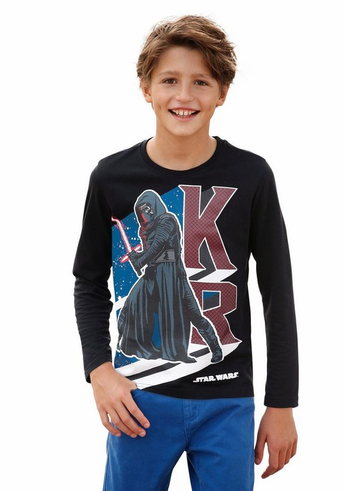 "Star Wars Langarmshirt STAR WARS "" KYLO REN"" in schwarz"