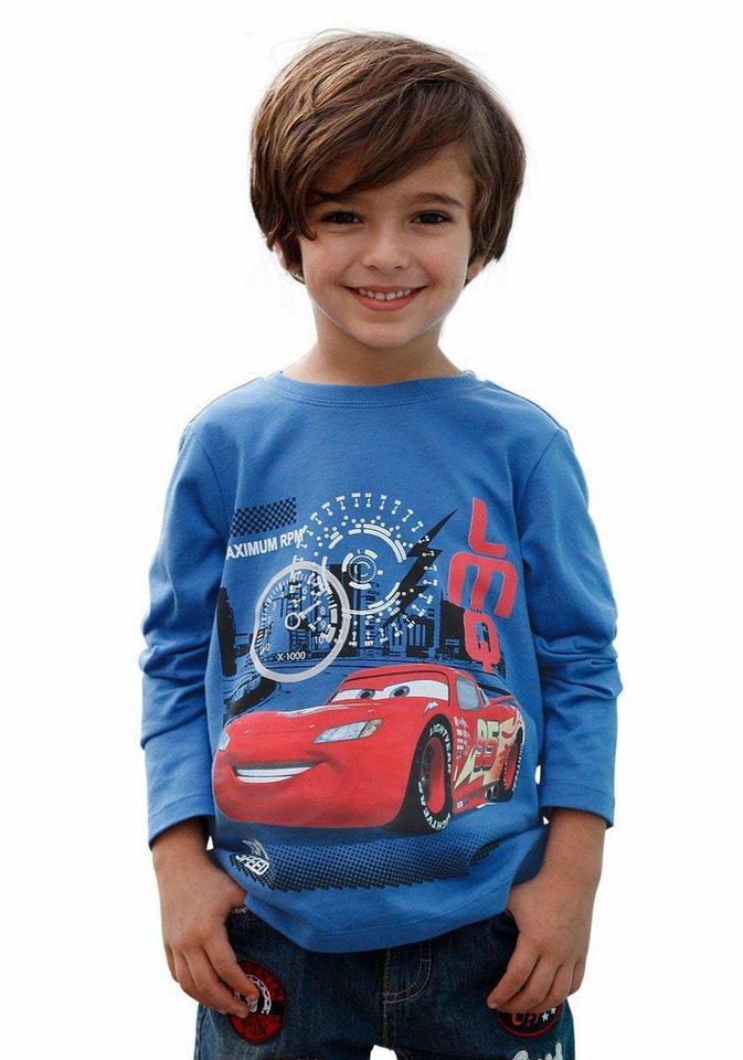 """Cars Langarmshirt """"TOP SPEED"""" in blau"""