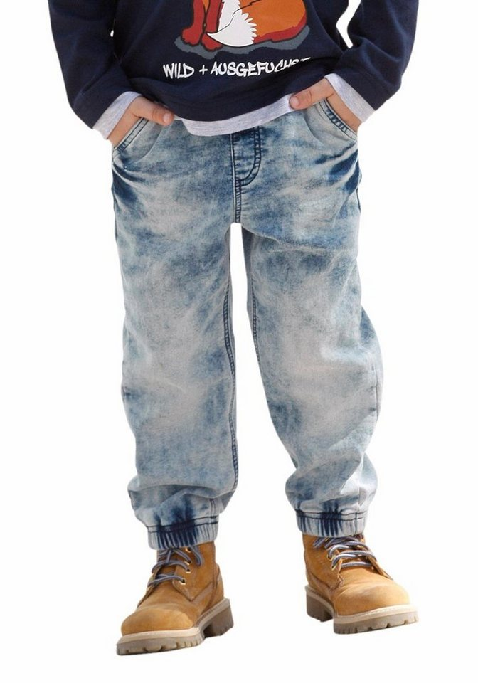 Arizona Sweatjeans in Denim-Optik in blue-stone