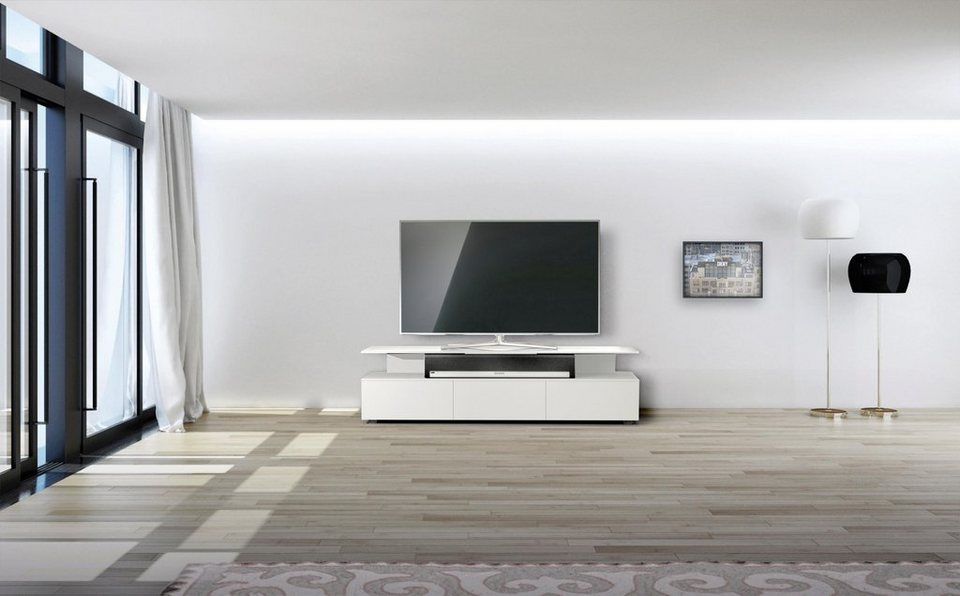 spectral tv lowboard just racks jrm1650 mit schwebender. Black Bedroom Furniture Sets. Home Design Ideas