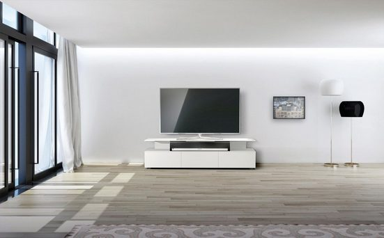 SPECTRAL TV-Board »just-racks JRM1650«, mit schwebender Glasplatte, Breite 165 cm