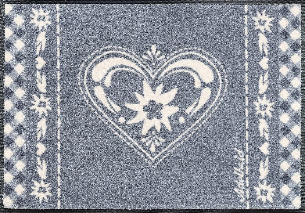 Fußmatte, wash+dry by Kleen-Tex, »Herzbandl«, rutschhemmend beschichtet