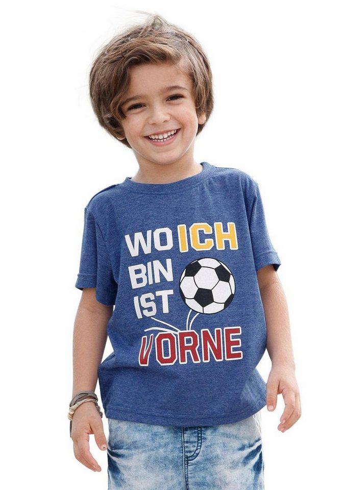 """KIDSWORLD T-Shirt """"Wo ich bin ist vorne"""" in royalblau-meliert"""