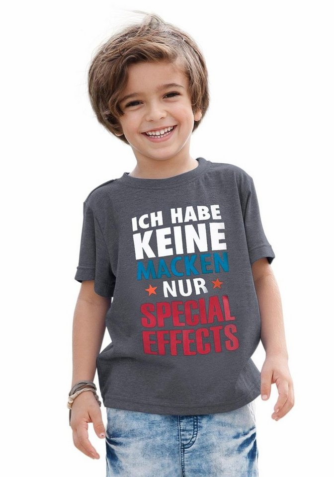 "KIDSWORLD T-Shirt ""Special Effects"" in anthrazit-meliert"
