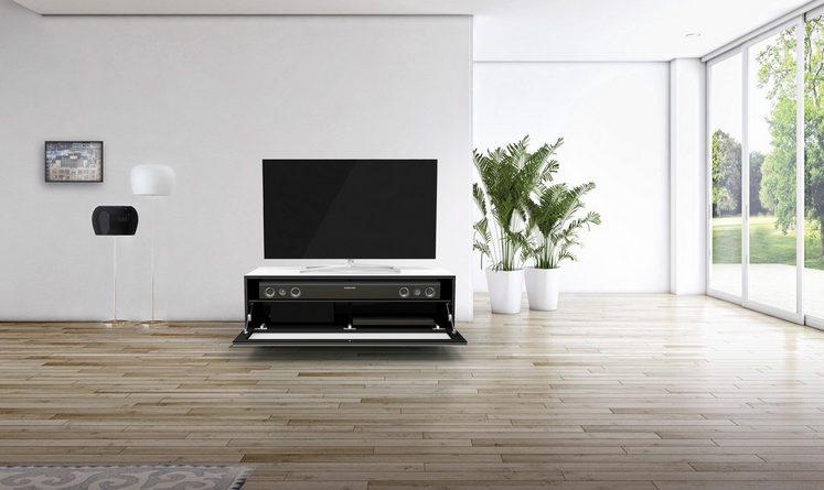 SPECTRAL TV-Lowboard »just-racks JRL1101S« mit stoffbespannter Klappe, Breite 110 cm