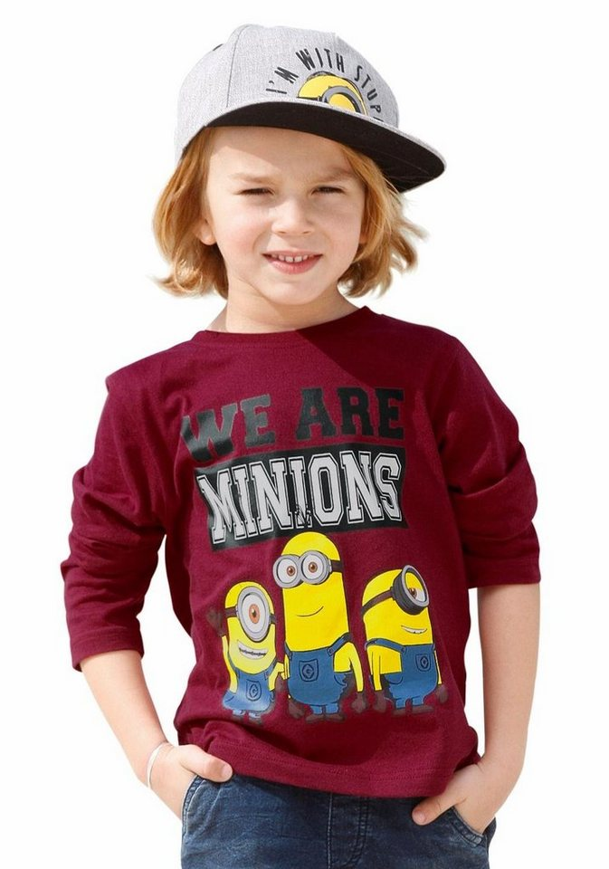 """Minions Langarmshirt """"We are Minions"""" in rot"""