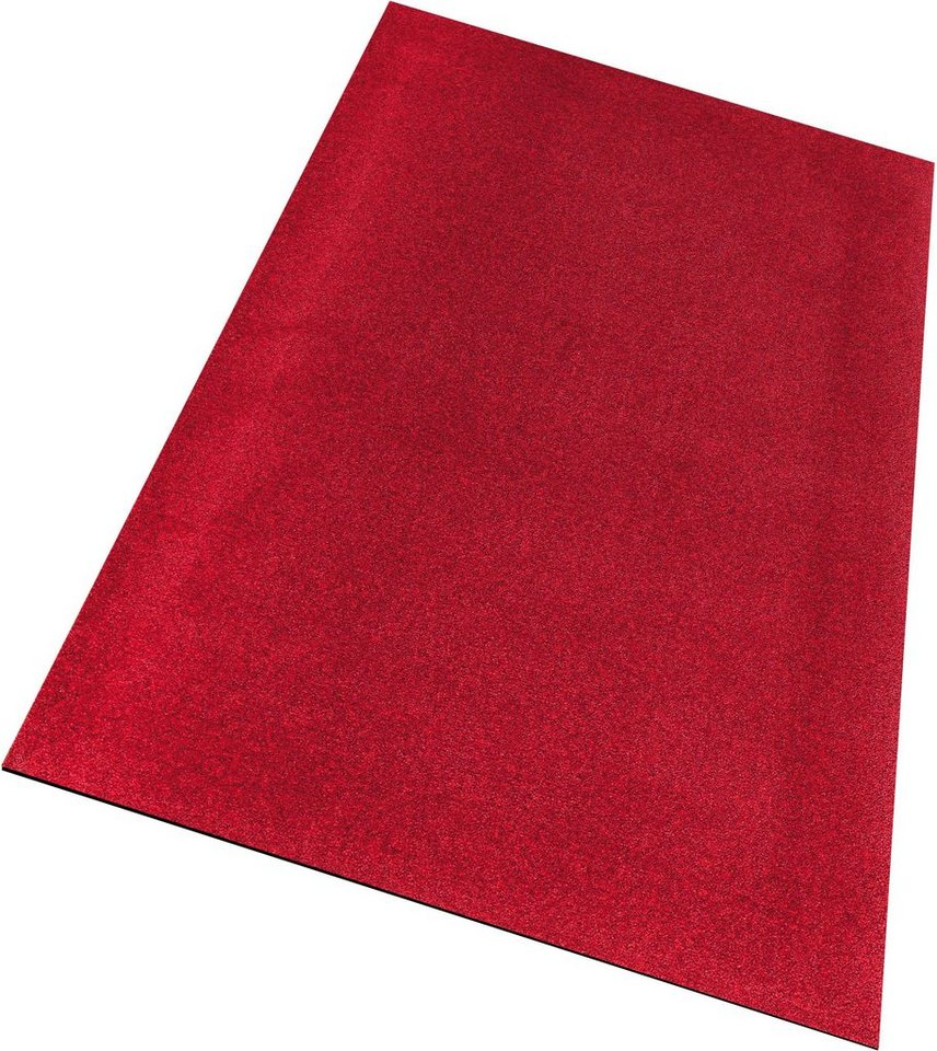 Läufer, wash+dry by Kleen-Tex, »PURE «, rutschhemmend beschichtet in rot