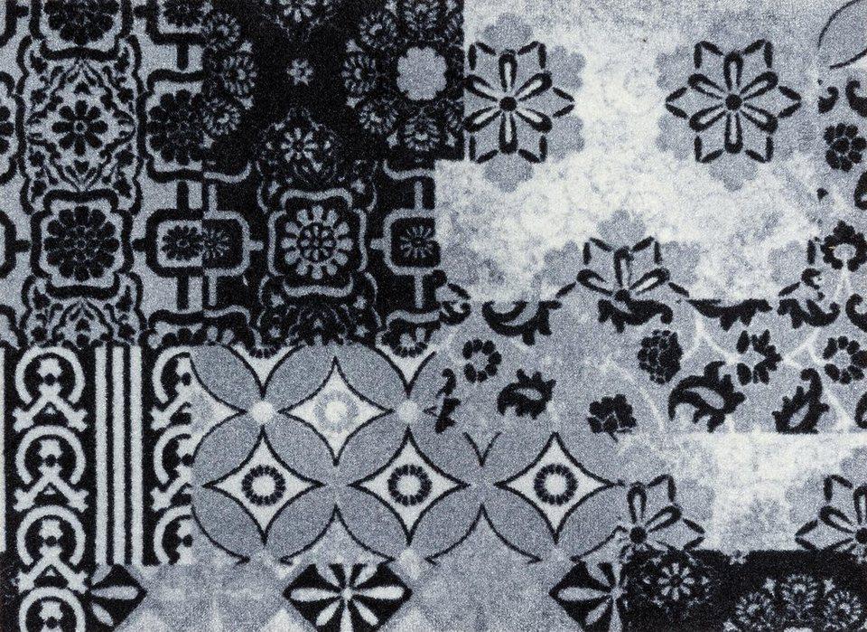 Fußmatte »Medina«, wash+dry by Kleen-Tex, rechteckig, Höhe 9 mm in grau