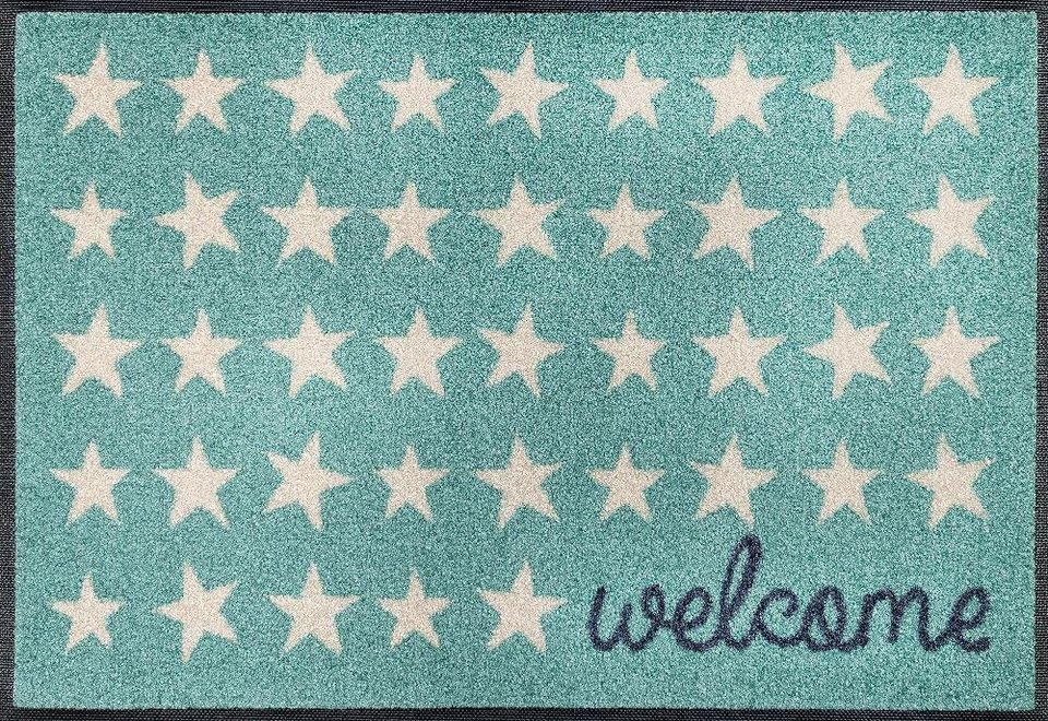 fu matte welcome stars wash dry by kleen tex rechteckig h he 7 mm online kaufen otto. Black Bedroom Furniture Sets. Home Design Ideas