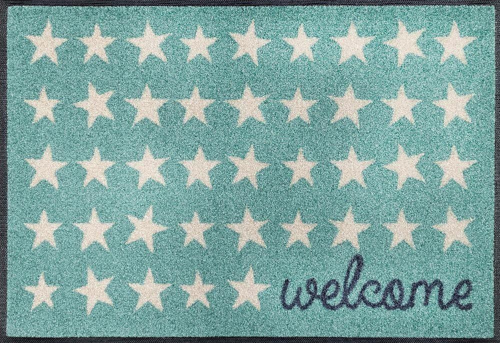Fußmatte »Welcome Stars«, wash+dry by Kleen-Tex, rechteckig, Höhe 7 mm