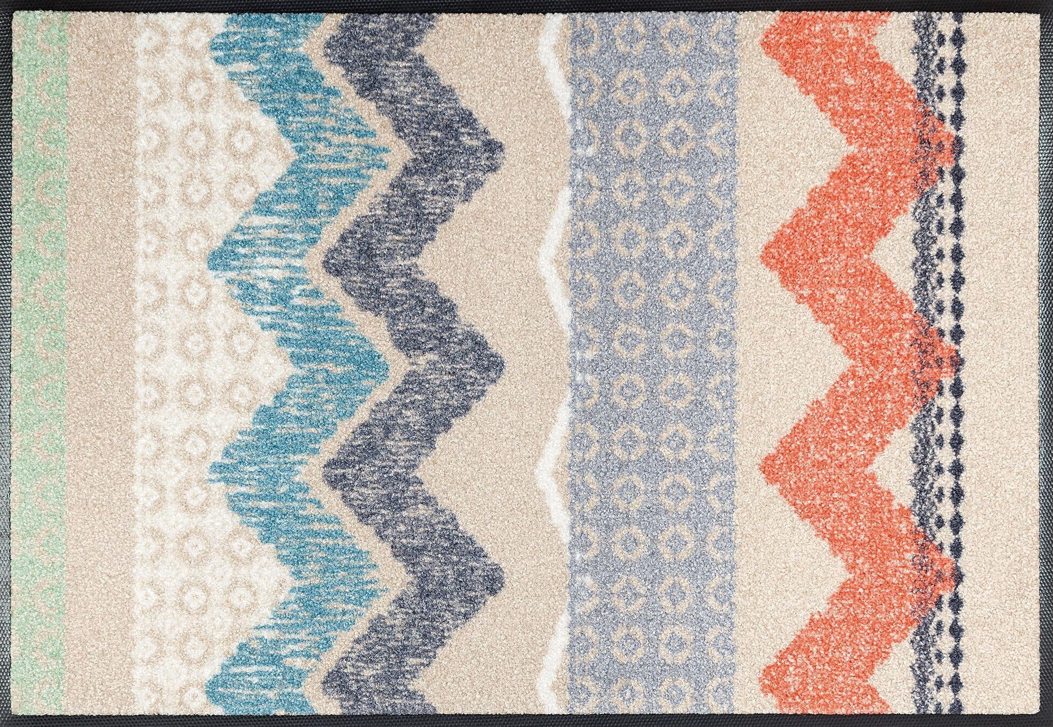 Fußmatte, wash+dry by Kleen-Tex, »Zigzag«, rutschhemmend beschichtet