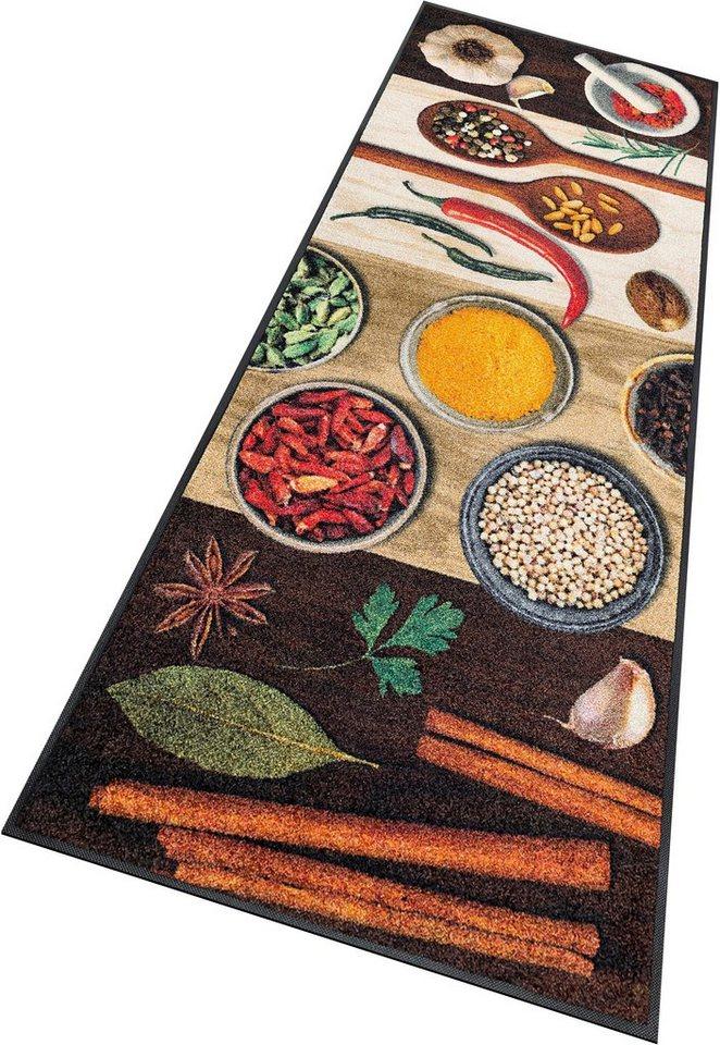 Läufer, wash+dry by Kleen-Tex, »Hot Spices«, rutschhemmend beschichtet in braun-bunt