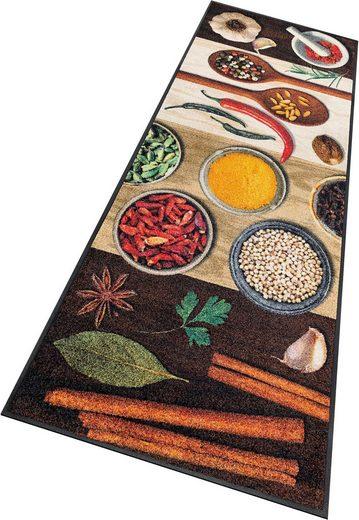 Küchenläufer »Hot Spices«, wash+dry by Kleen-Tex, rechteckig, Höhe 9 mm, In- und Outdoor geeignet, waschbar