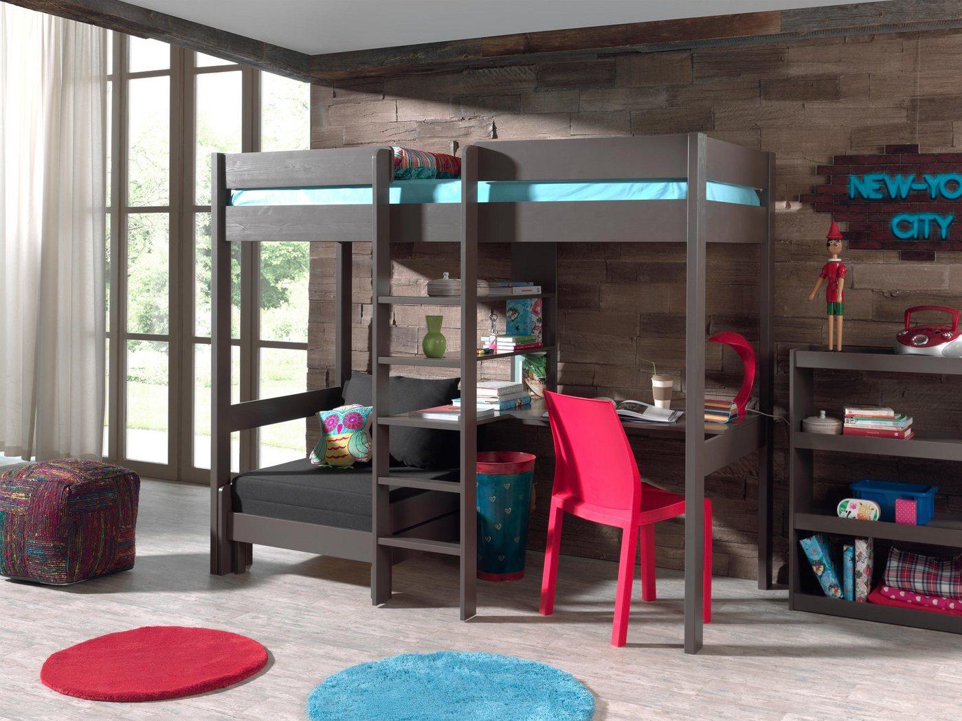 Vipack Furniture Hochbett Pino grau   05420070214544