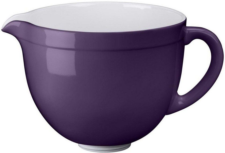 KitchenAid 4,8-L-Keramikschüssel 5KSMCB5RP, NUR für KitchenAid mit kippbarem Motorkopf in brombeer