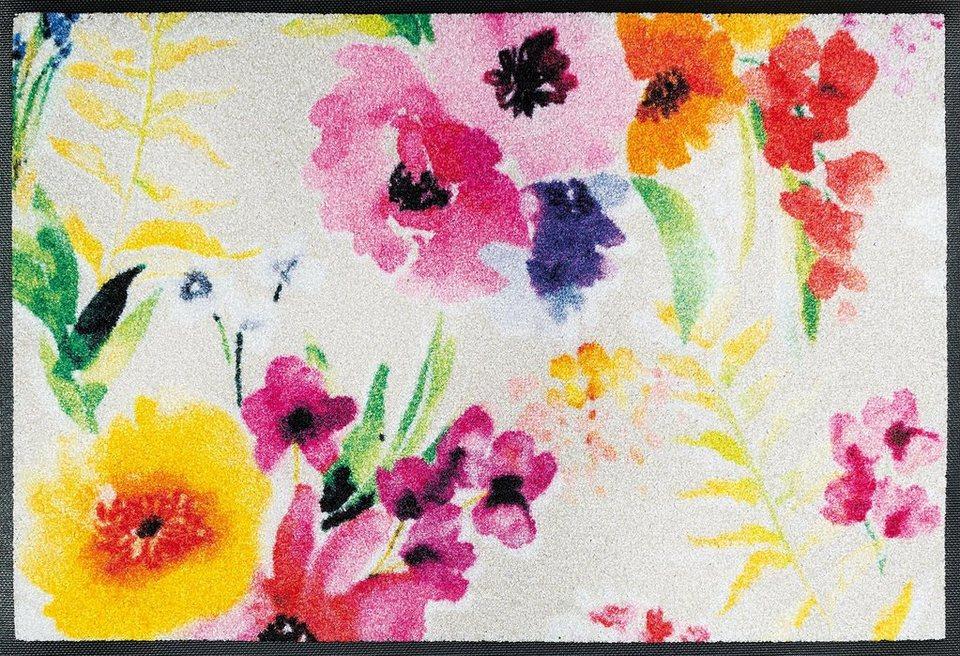 Fußmatte, wash+dry by Kleen-Tex, »Epic Garden«, rutschhemmend beschichtet in bunt