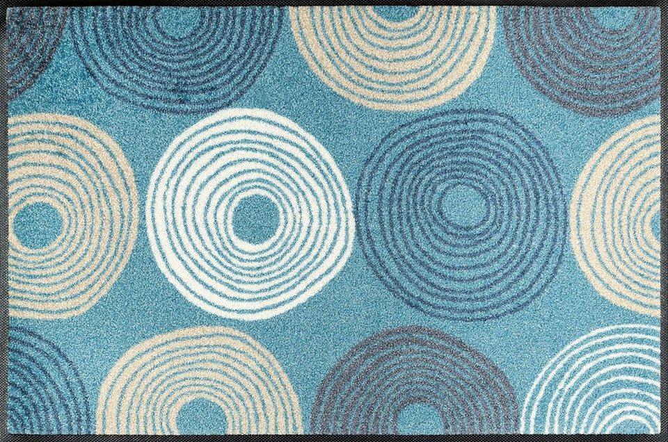 Fußmatte »Cyclone«, wash+dry by Kleen-Tex, rechteckig, Höhe 7 mm in blau