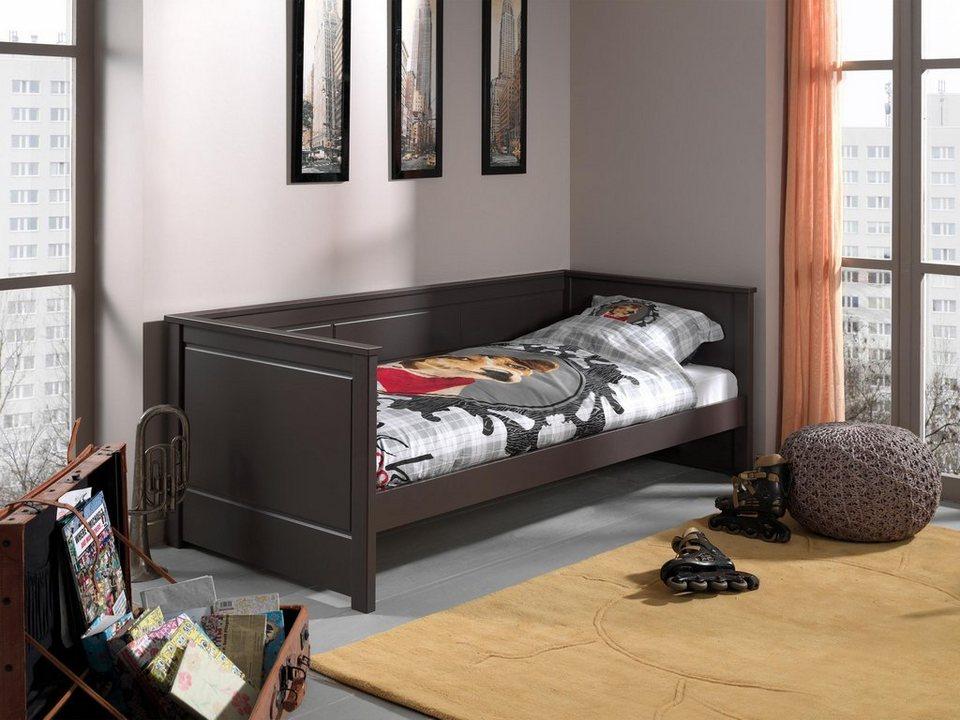 Vipack Furniture Kojenbett »Pino«, optional Bettschublade in Kiefer massiv taupe