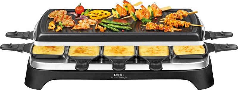 Tefal Raclette RE4588, 10 Raclettepfännchen, 1350 W, 10 Raclettepfännchen, Antihaftbeschichtet und spülmaschinengeeignet