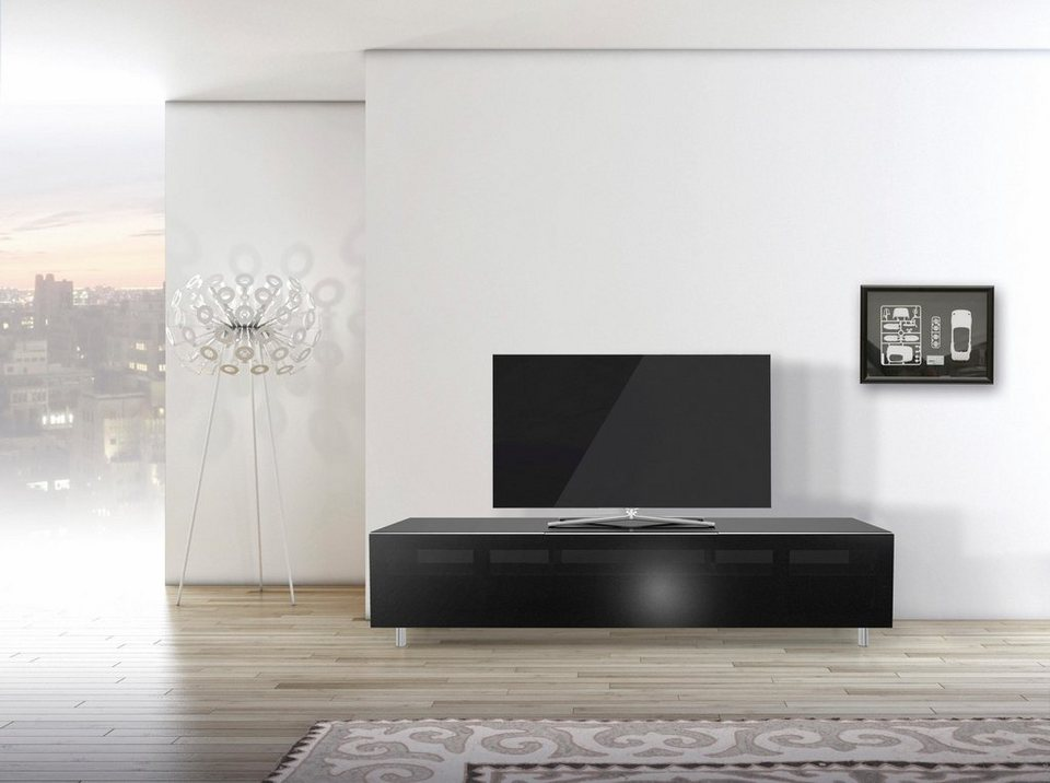 spectral tv lowboard just racks jrl1651s mit stoffbespannter klappe breite 165 cm online. Black Bedroom Furniture Sets. Home Design Ideas